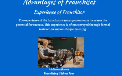 Franchise Experience of Franchisor