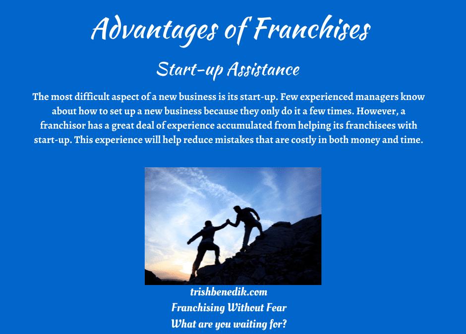 Franchise start-up assistance