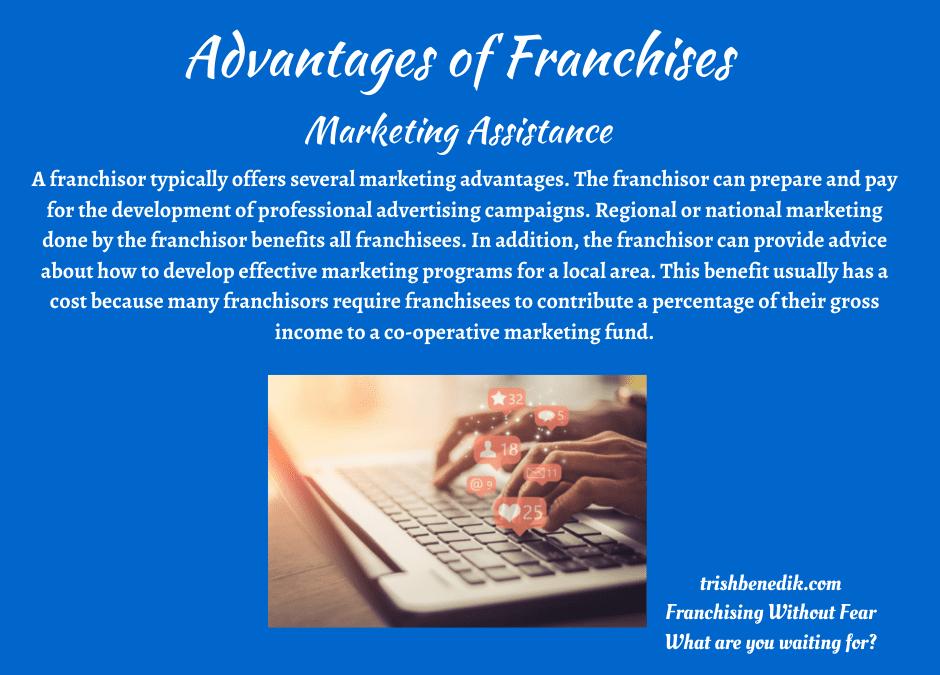 Franchises offer Marketing Assistance